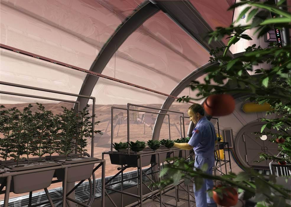 viaje espacial cultivos